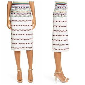 NWT Ted Baker London Coari Geo Print Knit Skirt